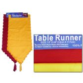"""288 Units of TABLE RUNNER 13X46"""" SINKYELLOW +RED CLR - Table Cloth"""