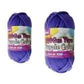 96 Units of YARN PURPLE COLOR 100GM XL - Sewing Supplies