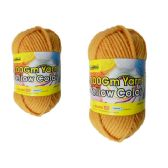 96 Units of YARN YELLOW COLOR 100GM XL - Sewing Supplies