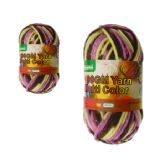 96 Units of YARN MULTI COLOR 100GMPK+COFFEE+YELLOW - Sewing Supplies