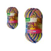 96 Units of YARN MULTI COLOR 100GMBLUE+YELLOW+PINK - Sewing Supplies