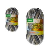 96 Units of YARN MULTI COLOR 100GMWHITE+GREY+BK+YELLOW CL - Sewing Supplies