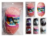 96 Units of 100 mg Yarn Assorted Colors for Crochet & Knitting Multi Pack Variety Colored Assortment - Sewing Supplies