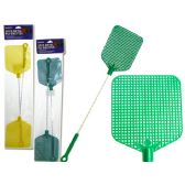 96 Units of 2 Piece Metal Fly Swatters - Fly Swatters
