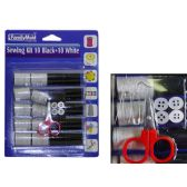 96 Units of Sewing Kit 10 Black+ 10white - SEWING KITS/NOTIONS