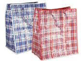 72 Units of Plaid Shopping Bag - Tote Bags & Slings