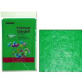 """96 Units of TABLECLOTH 54X108"""" GREENEMBOSSED FLOWE - Table Cloth"""