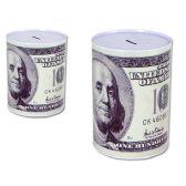 24 Units of Coin Bank, Saving Tin, US $100 Bill, - Coin Holders/Banks/Counter