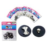 108 Units of BUTTON 6PC/SET W/DISPLAY BOX - SEWING BUTTONS