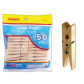 72 Units of 50 Piece Cloth Pegs - CLOTHESPINS/LAUNDRY ACC
