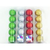 96 Units of XMS BALL 5PC/SET 6CM 4ASST CL - X-MAS