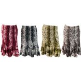 24 Units of Long Skirt Ruffle Bottom Crackle Print Assorted Colors - Womens Skirts
