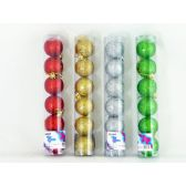 144 Units of XMS BALL 6PC/SET 5CM 4ASST CLR - X-MAS