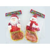 96 Units of XMS SNOW MEN+SANTA 11X29CM - X-MAS