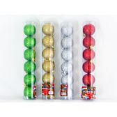 96 Units of XMS BALL 6PC/SET 5CM 4ASST CLR - Christmas Ornament