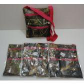 72 Units of Large Cross-Body Hand Bag [Hardwoods Camo/Hot Pink Trim] - Shoulder Bags & Messenger Bags