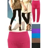 12 Units of Thick Solid Color Assorted Legging - Womens Leggings