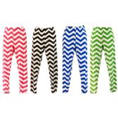 24 Units of Thin Chevron Pattern Legging with Bright Summer Colors - Womens Leggings