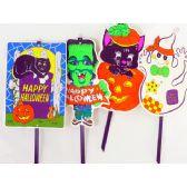 108 Units of HWN YARD SIGN PVC 9 ASST. - Halloween & Thanksgiving