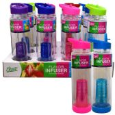 24 Units of Infuser Bottle 26oz Straw