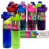 24 Units of Infuser Bottle 26oz Flip Top
