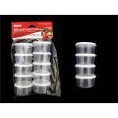 48 Units of 10pc Round Multipurpose Containers