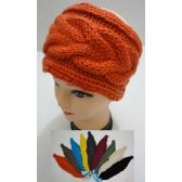 12 Units of Hand Knitted Ear Band [Cable Knit] - Ear Warmers