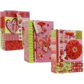 72 Units of Valentine Assorted Printed XL Gift Bags - Valentine Gift Bag's