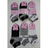 Wholesale Bulk 3pr Anklets 9-11 BLACK/GRAY/WHITE