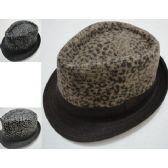 Wholesale Bulk Fedora Hat-Animal Print