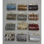 "24 Units of 4""x3"" Hard Snap-Close Change Purse--Ass't Styles - Leather Purses and Handbags"