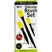 24 Units of 3 Piece Silicone Brush Set