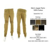 12 Units of Mens Jogger Pants 100% Cotton