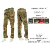 12 Units of Mens Combat Camo Pants