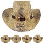 24 Units of WESTERN COWBOY HAT ONE COLOR - Cowboy, Boonie Hat