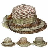 24 Units of WOMANS ASSORTED SYLISH SUMMER HAT IN ASSORTED COLOR - Sun Hats