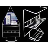 72 Units of SHOWER CADDY WHITE