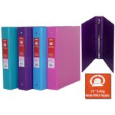 """48 Units of 1.5"""" Binder Without View Pockets - CLIPBOARDS/BINDERS"""