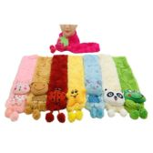 36 Units of Child's Super Soft Character Scarf - Winter Scarves