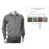 24 Units of Mens Fashion 1/4 Zip Sweater Side Argyle - Mens Sweat Shirt
