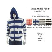 12 Units of Mens Striped Hoodie - Mens Sweat Shirt