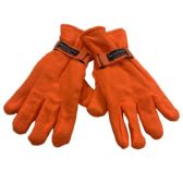 24 Units of Men's Orange Fleece Gloves