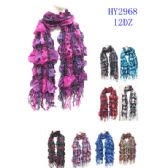 72 Units of Ladies Fashion Scarves Assorted Prints - Womens Fashion Scarves