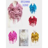 48 Units of Ladies Solid Color CIRCLE Scarves - Womens Fashion Scarves