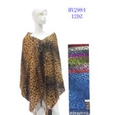 72 Units of Ladies Leopard Print Assorted Scarves - Womens Fashion Scarves