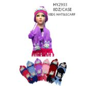 48 Units of Kids Printed Winter Set, Scarf And Hat - Winter Sets Scarves , Hats & Gloves