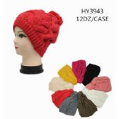 36 Units of Ladies Heavy Knit Solid Color Winter Hat - Winter Hats