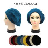 36 Units of LADIES BERET HAT SOLID COLORS - Fashion Winter Hats