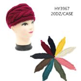 60 Units of Ladies Fashion Winter Head Band Solid Colors - Headbands