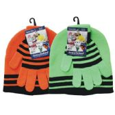 36 Units of Winter Set Hat & Glove Neon - Winter Sets Scarves , Hats & Gloves